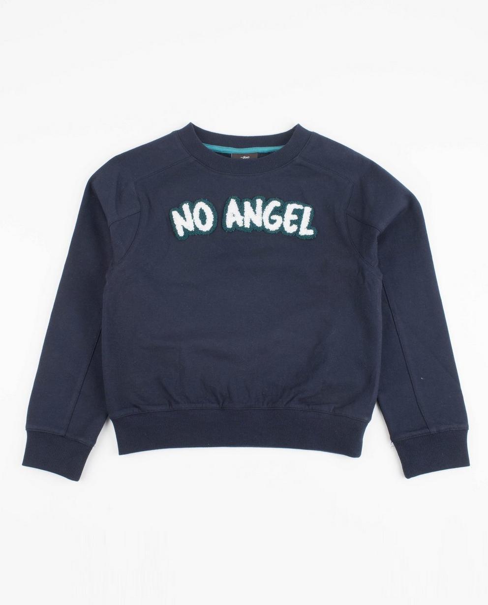 Sweater met opschrift - in nachtblauw - JBC